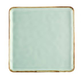 Square Plate Light Green 10""