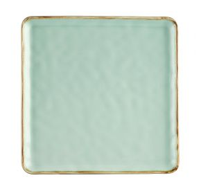 Square Plate Light Green 12""