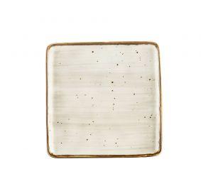 """Square Plate Desert Beige 8 1/4"""""""