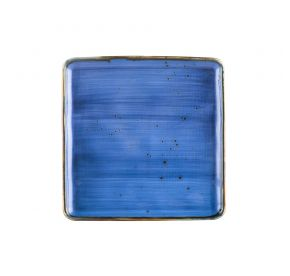 """Square Plate Starry Night Blue 8 1/4"""""""