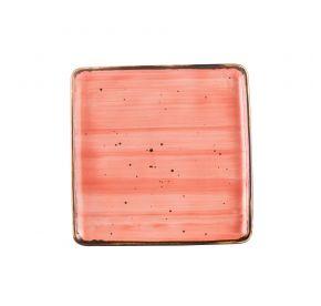"""Square Plate Coral 8 1/4"""""""