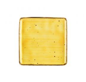 "Square Plate Sunflower 8 1/4"""