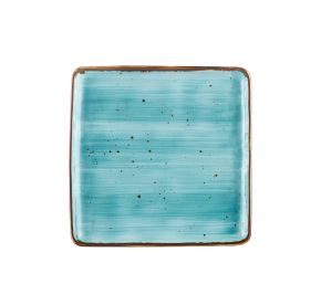 """Square Plate Turquoise 8 1/4"""""""