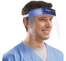 Foam Supported Protective Face Shield, 10PCs/Pack